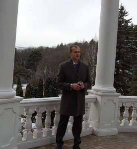 Дмитрий Науменко в любимом парке. 2013 г.