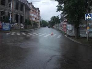 Дневной обзорный снимок проезжей части